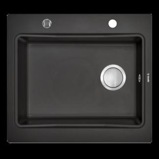 Sort 1-kums kjøkkenvask